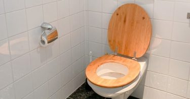 brown stains in toilet
